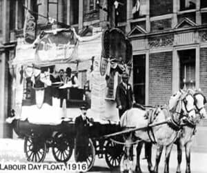 Happy Labor Day Parade Red Granite Wisconsin 1908